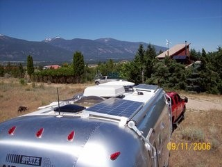 Solar electric panels are a perfect fit for RVs and campers