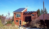 solar array on Oasis Montana's office